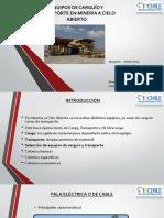 EQUIPOS DE CARGUÍO Y TRANSPORTE EN MINERÍA A