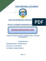 Partidos Políticos en El Perú