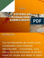Copia de Tema 6 Sistema de Fundaciones, Sobrecimientos