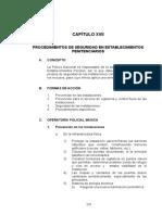CAPITULO XVII Procedimientos en Seguridad Establecimientos Penitenciarios