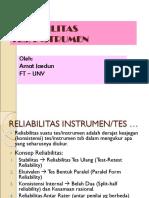 (8) Reliabilitas Tes