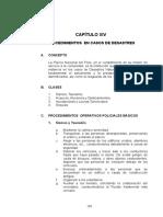 CAPITULO XIV Procedimientos en Casos de Desastres