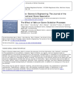 The Effect of Salts on Ozone Oxidation Process