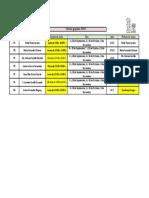 Calendario de Tutorías Grupales 2018-1