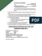 Acuerdo Organización Festival de La Voz
