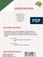 Emulsión Explosiva
