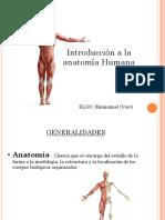 Introduccion a La Anatomia Humana Clase 1