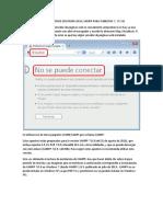 Instalacion de Servidor Local Xampp Para Windows 7