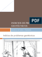 Indicios de Problemas Geotécnicos