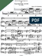 Balakirev Georgian Song 2nd Version B-flat Minor