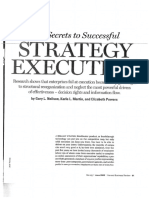 L7. the Secrets to Successful Strategy Execution