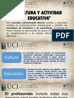 cultura y actividad educativa