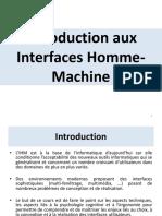 COURS 1 Introduction Aux Interfaces Homme Machine