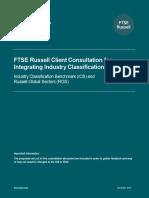 FTSE Russell Consultation ICB RGS Integration FINALV2