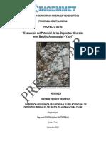 A6478 Informe Técnico POI GE24 2009 Evaluación Del Potencial de Los Depósitos Minerales en El Batolito Andahuylas - Yauri POI Rivera