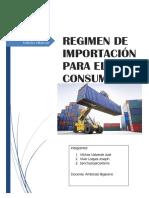 Importacion Para El Consumo-Derecho Aduanero