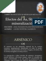 Efectos Del as, Sb en La Mineralización