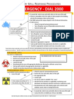 Lab Spill Procedures Chem Bio Rad