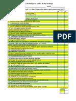 Lista de Cotejo de Estilos de Aprendizaje
