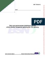 SNI 1726-2012 Tata cara perencanaan ketahanan gempa untuk struktur bangunan gedung dan non gedung.pdf
