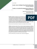 Unidades de conservação como estratégia de gestão territorial dos recursos naturais
