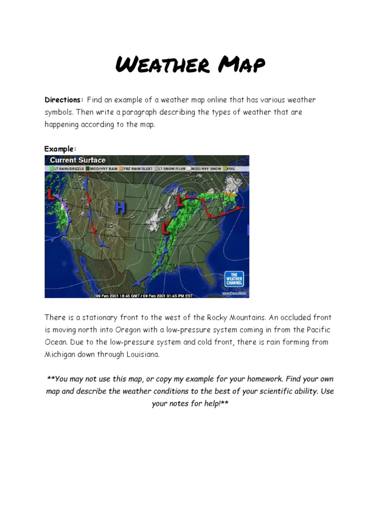 Weather Map Homework