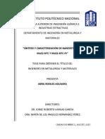 Sintesis y Caracterización de Nanoestructuras MoS2-NTC y MoS2-NTC-Pt