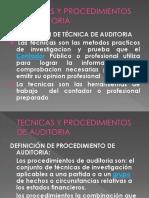 Auditoria i Tecnicas y Procedimientos de Auditoria