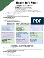 Mental Health Info Sheet