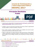 Resultados del Envipe 2017 de Puebla