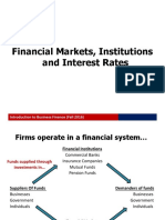 Lecture 2. Financial Markets, Institutions and Interest Rates