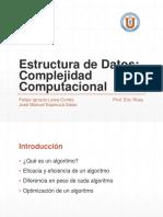 Complejidad Computacional Estructura de Datos