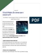 10 Trucchi Windows Che Si Devono Usare e Conoscere Sul PC - Navigaweb.net