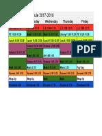 steele daily schedule 2017-2018 - steele schedule