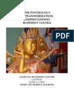 The Psychology of Tantra Jamyang LONDON JUNE 2012