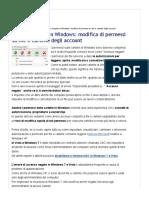 Accesso Negato in Windows- Modifica Di Permessi Su File e Cartelle Degli Account - Navigaweb.net