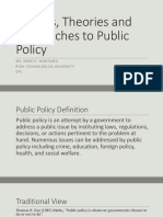 modelsapproachesandofpublicpolicy-160110185256