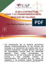 PPT Cambios en la Estructura Legal y la Transparencia en el Mercado de Valores