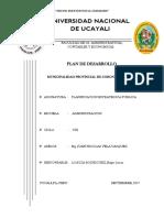 Caratula Plan de Desarrollo