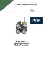 Series 74 Positioner Manual