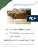 Montaggio Tenda Ministeriale Modello MPI 73