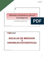 Clase 03 Estadistica - Escalas y Variables