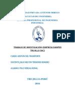 Gestion de Transporte Danper Trujillo Sac