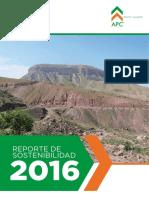 Reporte de Sostenibilidad APC