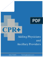 Adding Physician and Ancillary Providers
