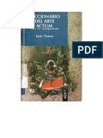 Diccionario Del Arte Actual de Karin Thomas