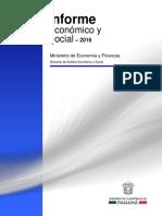 Informe Economico y Social - Anual 2016