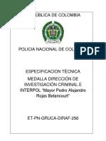 215. Et-pn-256-2016!04!19-Medalla de La Direccion de Investigacion Criminal e Interpol
