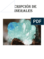 descripcion minerales