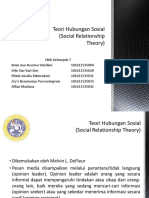 Teori Hubungan Sosial (Social Relationship Theory)